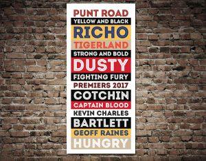 Richmond Tigers AFL Artwork