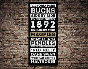 Buy Collingwood Magpies Retro Tram Scroll