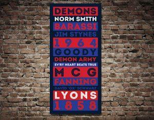 Melbourne Demons AFL Art