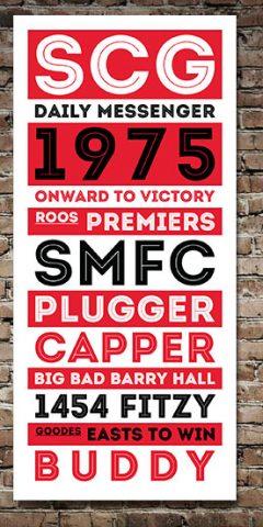 Buy Sydney Swans Retro Tram Banner
