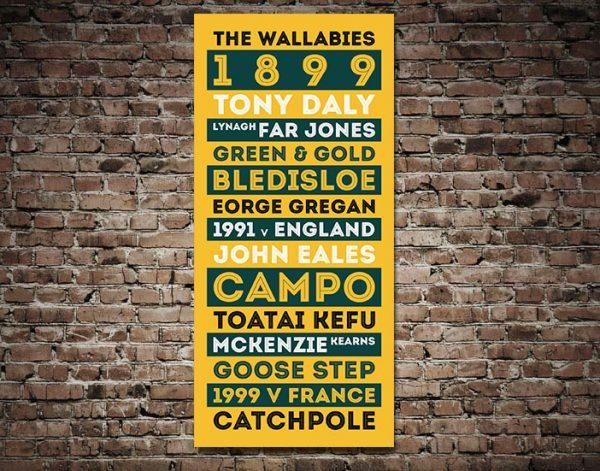 The Wallabies Australian Rugby Team Art