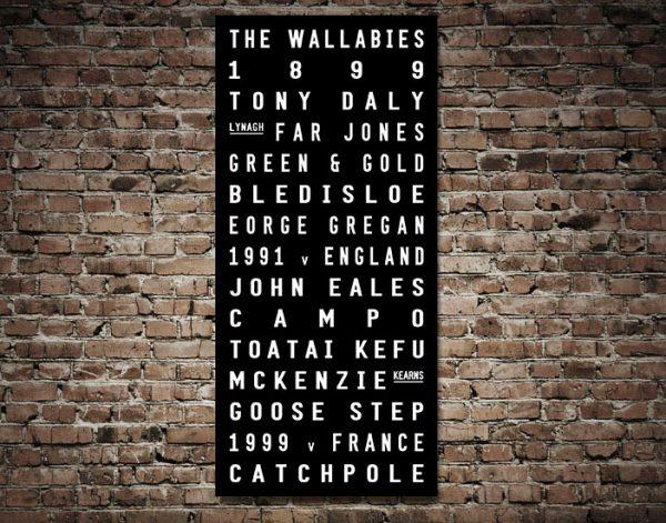 The Wallabies Australian Rugby Team Wall Art