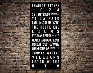 Buy Aston Villa FC Tram Scroll Wall Art