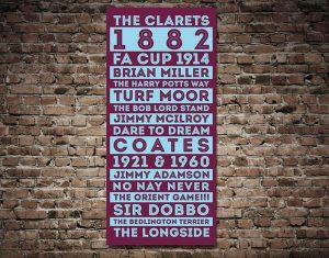 Buy Vintage Style Burnley FC Canvas Tram Art