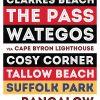 Buy a Byron Bay Retro Style Tram Banner