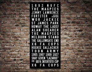 Buy Tram Banner Wall Art for Newcastle United FC