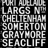 Vintage Adelaide Tram Scroll Sign Art