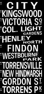Vintage Adelaide Tram Banner